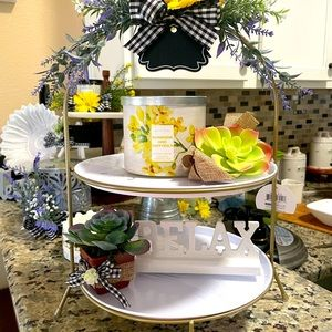Decorated Tiered Tray Display